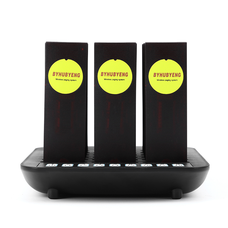 BYHUBYENG Wireless Coaster Pager system,restaurant queue paging system,Queuing System Calling Button,take food to use