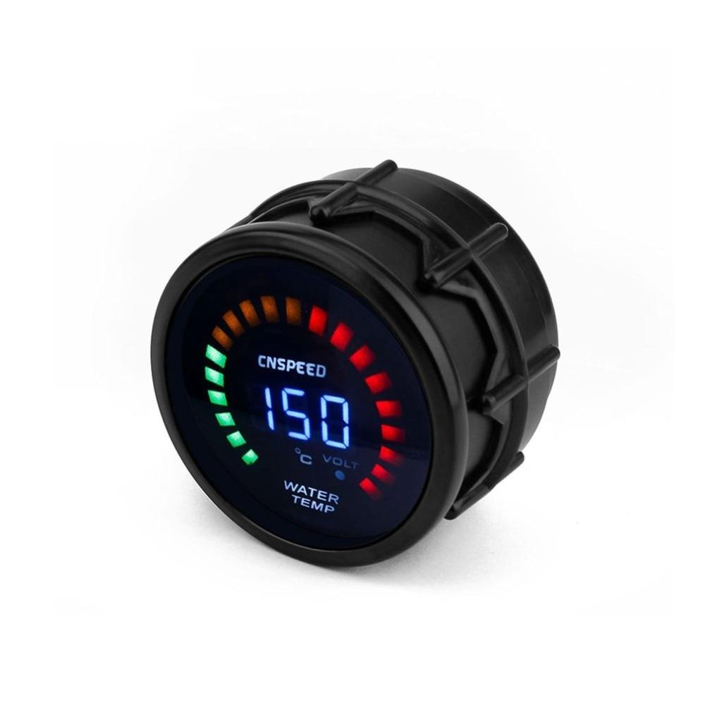 Mètre de température de l'eau d'instrument modifié par voiture 12 V universel 52 MM avec les pièces et l'équipement légers d'assemblage d'automobile