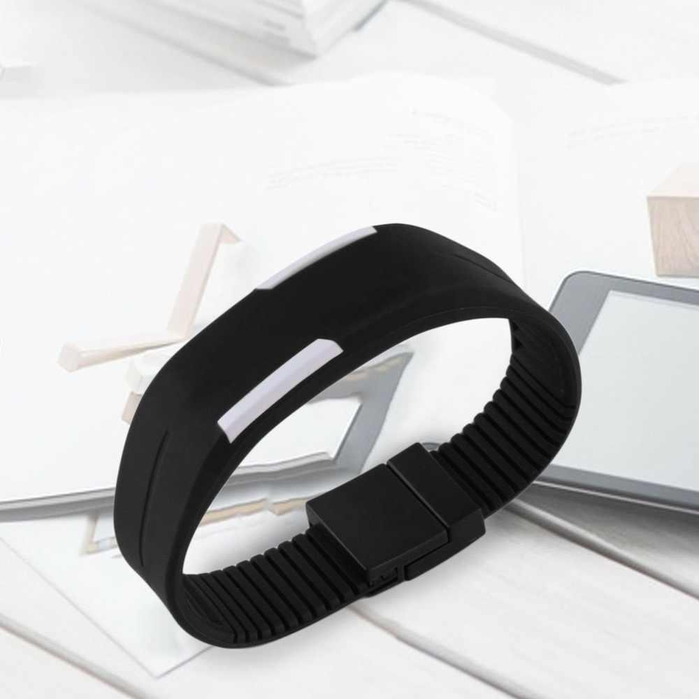 הלוהטים אופנה יוניסקס Mens נשים נוח סיליקון LED שעון ספורט צמיד דיגיטלי שעון יד עם אבזם מגנטי