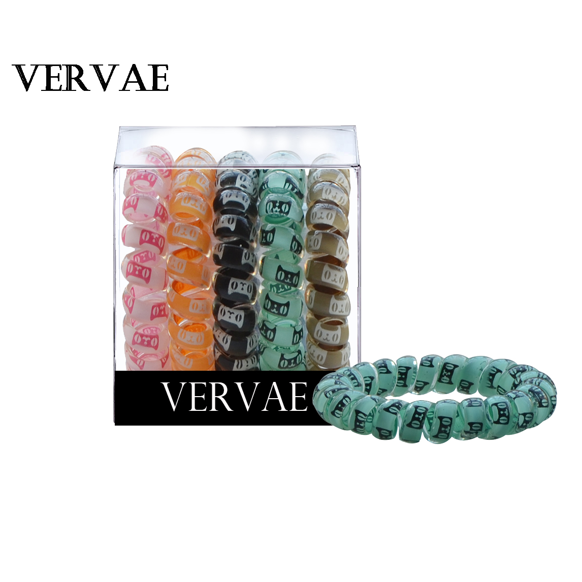 5-PCS Women   Headwear   Hair Bands Accessories Spiral Phone Wire Hair Ties For Girl Ponytail Holder Elastic Heabands 2019 VERVAE