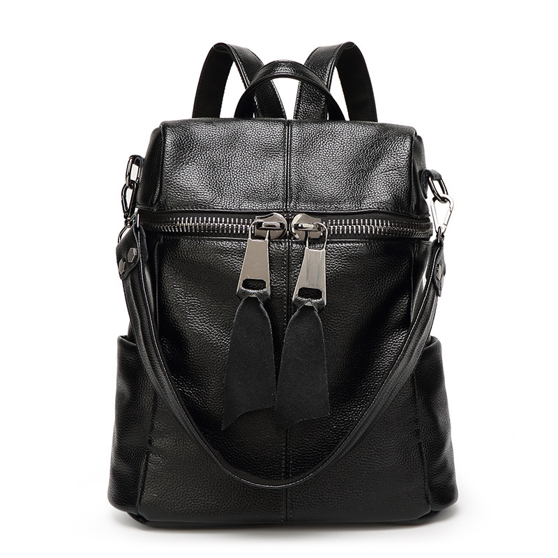 ФОТО 2017 New Brand Genuine Leather Women Backpack For Teenagers Girls School Bags Ladies Backpack High Quality Solid Mochila a2061