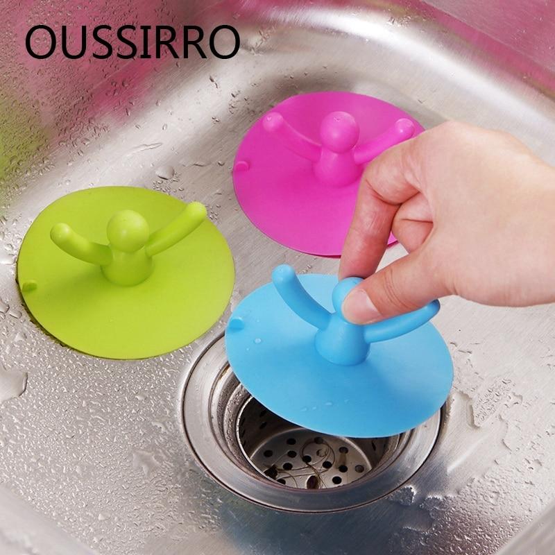 Keuken Wastafel Wastafel Haar Plug Wc Water Drains Plug Bad Siliconen - Huishouden