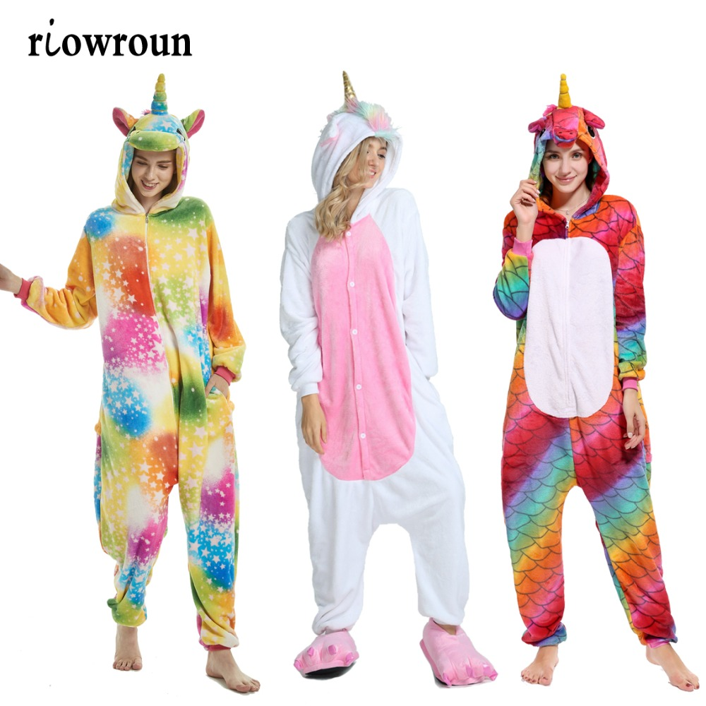 Women's Sleepwears Underwear & Sleepwears Glorious 2019 Winter Unicorn Pajama Sets Cartoon Sleepwear Women Pajama Flannel Animal Stitch Panda Unicorn Tigger Pajama For Women Men For Improving Blood Circulation