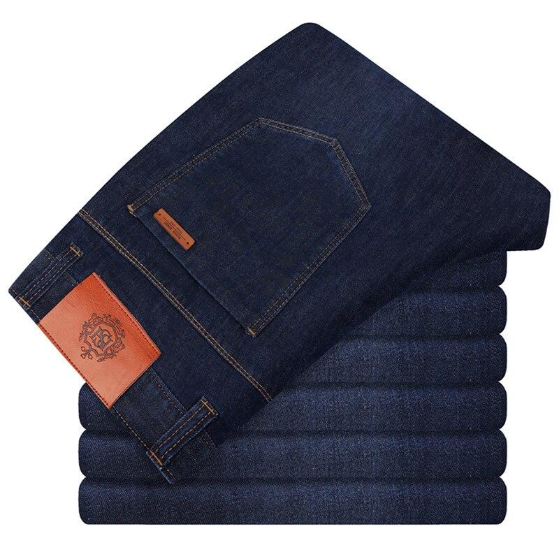 Summer New Men/'s Thin Light Jeans Casual Designer Mens Loose Denim Jeans Dark Blue Trousers Male Brand Pants