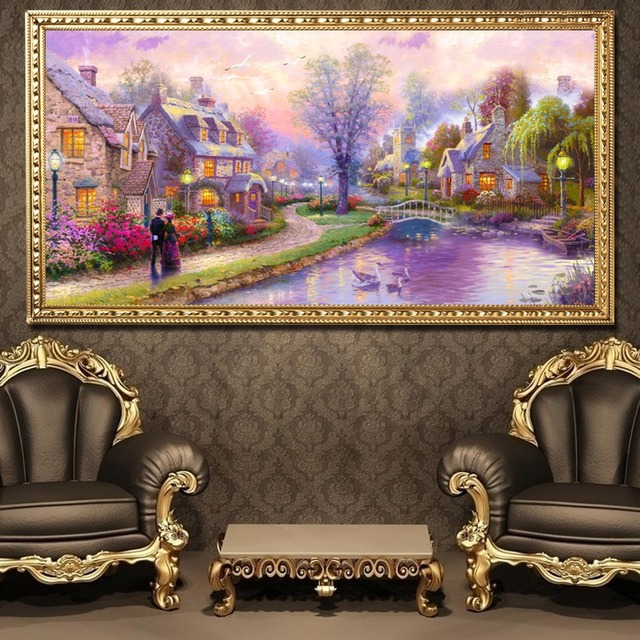 5D DIY Diamond Sweet House Painting Cross Stitch Diamond Embroidery Mosaic Home Decor