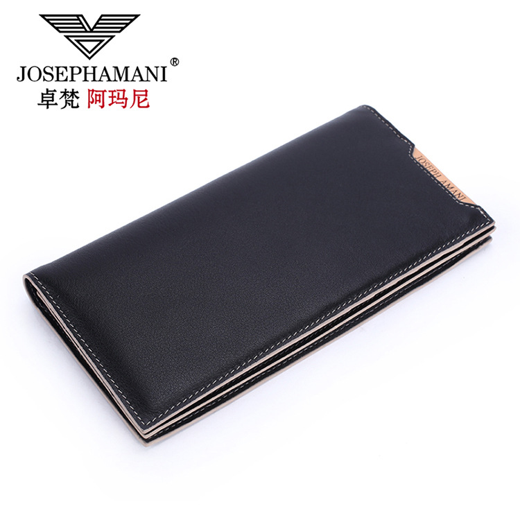 Genuine Cowhide Leather Men Wallet long coin purse clutch  Business cow leather  bag Wallet Brand High Quality Vintage Designer 2017 genuine cowhide leather brand women wallet short design lady small coin purse mini clutch cartera high quality