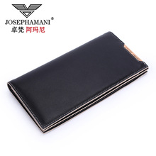 Genuine Cowhide Leather Men Wallet long coin purse clutch  Business cow leather  bag Wallet Brand High Quality Vintage Designer