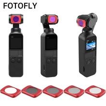FOTOFLY Für OSMO Tasche Filter ND 8 16 32 64 Neutral Dichte Kamera Filter Set Für DJI Osmo Tasche Handheld kamera Zubehör