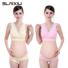 Maternity Nursing Bras Comfortable Feeding Bra + Panties Set