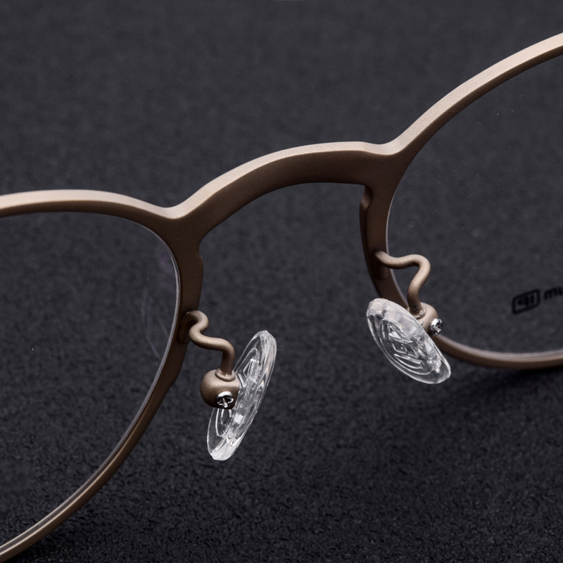 Titanium Glasses Frame Men Female Lightweight Material Vintage Prescription Eyeglasses Full Myopia Optical Women Frames Eyewear in Men 39 s Eyewear Frames from Apparel Accessories