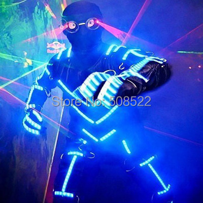LED Costumes Illuminated costume EL wire LED the ghost dance male dazzle colour Size/ color customized