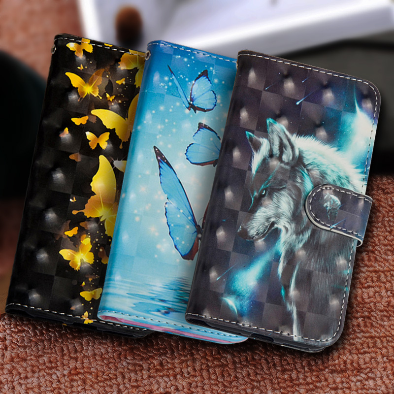 Painting Flip Phone <font><b>Case</b></font> For PU Leather For <font><b>Lenovo</b></font> K6 Note Silicon Wallet Cover For <font><b>Lenovo</b></font> K6 Note <font><b>C2</b></font> P2 <font><b>Case</b></font> Coque Fundas image