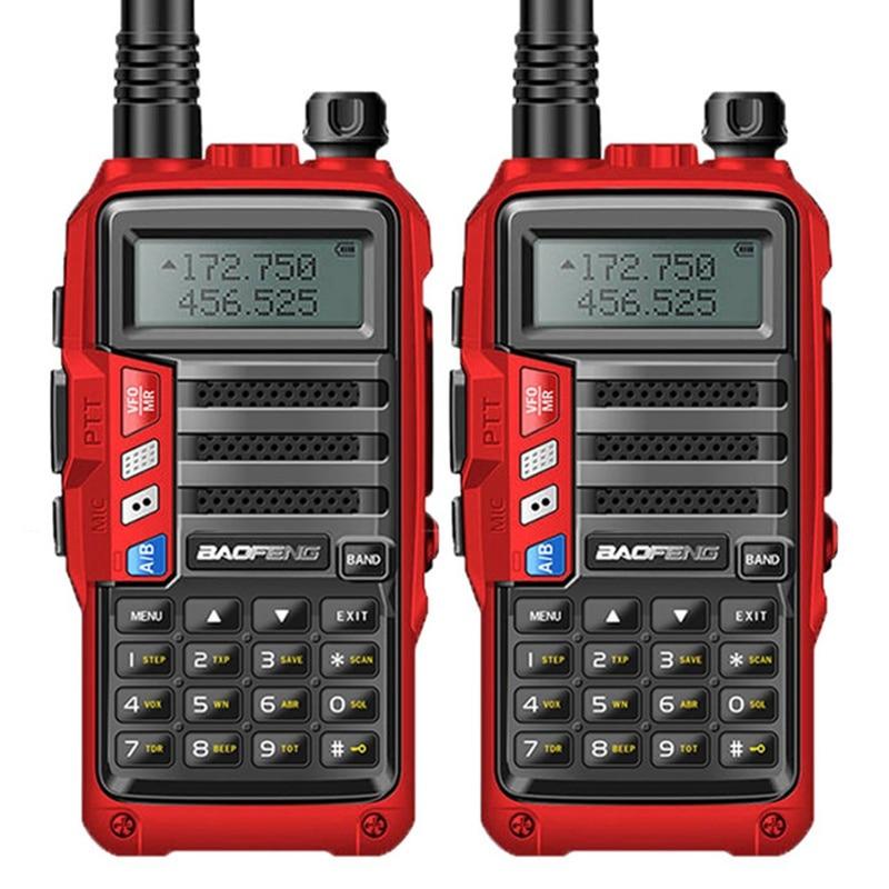 2PCS BAOFENG 2019 UV S9 8W Powerful VHF UHF136 174Mhz 400 520Mhz Dual Band 10KM Range