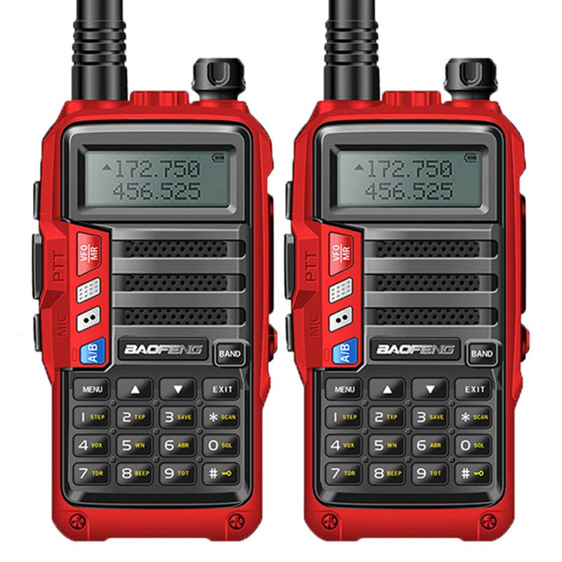 2 piezas BAOFENG 2019 UV S9 8 W potente VHF/UHF136 174Mhz y 400 520 Mhz de banda Dual 10 KM radio Walkie Talkie con batería gruesa-in Walkie-talkie from Teléfonos celulares y telecomunicaciones on AliExpress - 11.11_Double 11_Singles' Day 1