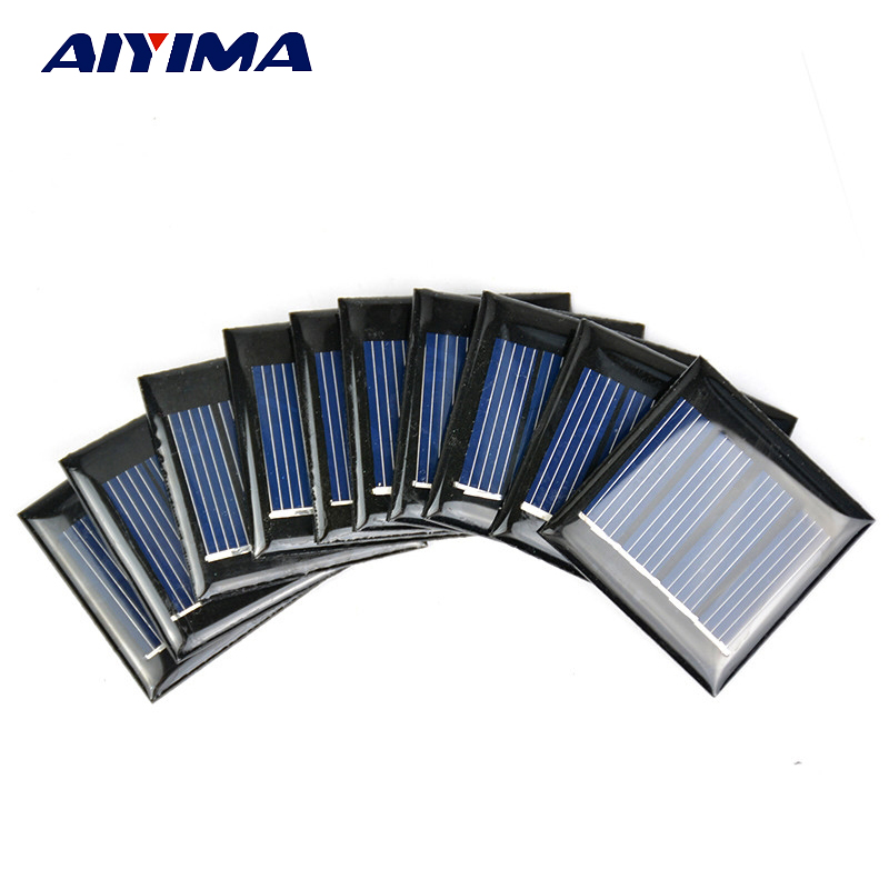10Pcs Solar Panels Polycrystalline Silicon Flexible Solar Panel Power Charger 2V 60mA 40x40MM DIY Portable Technology Production