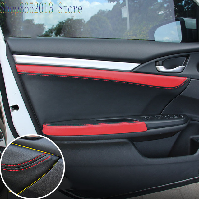 For Honda Civic 10th 2016 2017 Pu Leather Modified Car Interior Door