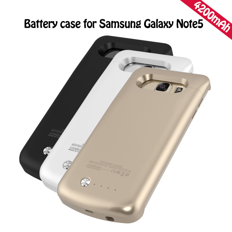 new style ae12a 671de US $19.88  Wireless 4200mAh Rechargeable External Battery Case Charger  Backup Phone Power Case For Samsung Galaxy Note 5 N9200 Power Bank-in  Battery ...