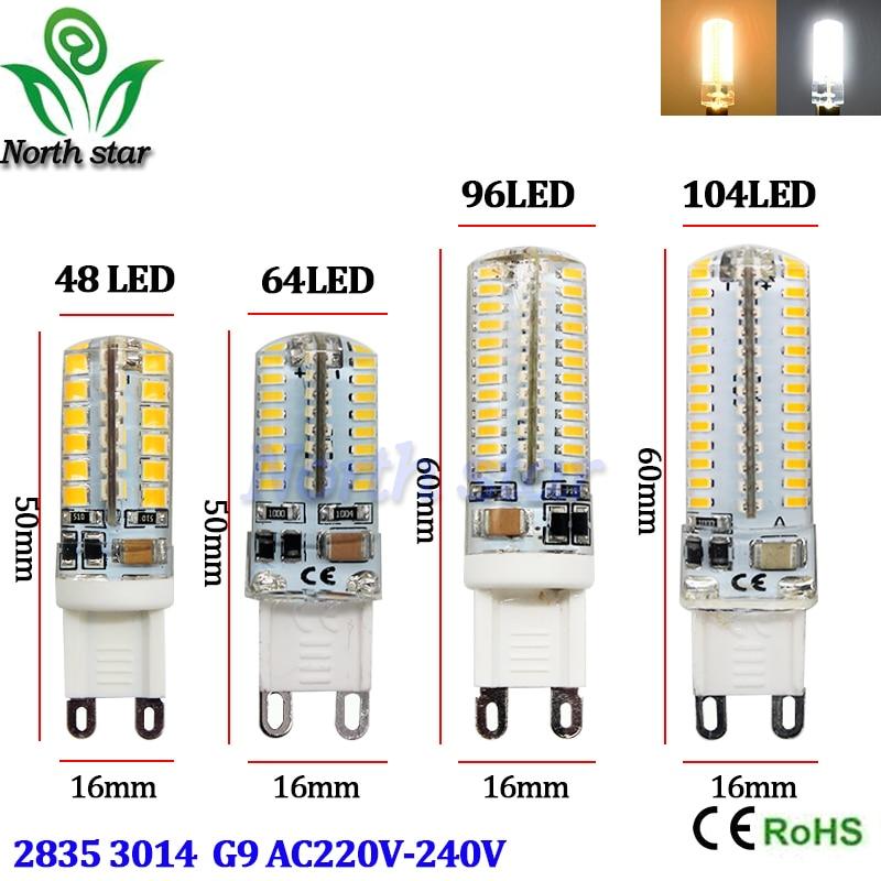 G9 LED Lamp 7W 9W 10W 12W Corn Bulb AC 220V SMD 2835 3014 48 64 96 104leds Lampada G4 LED Light 360 Degrees Replace Halogen Lamp