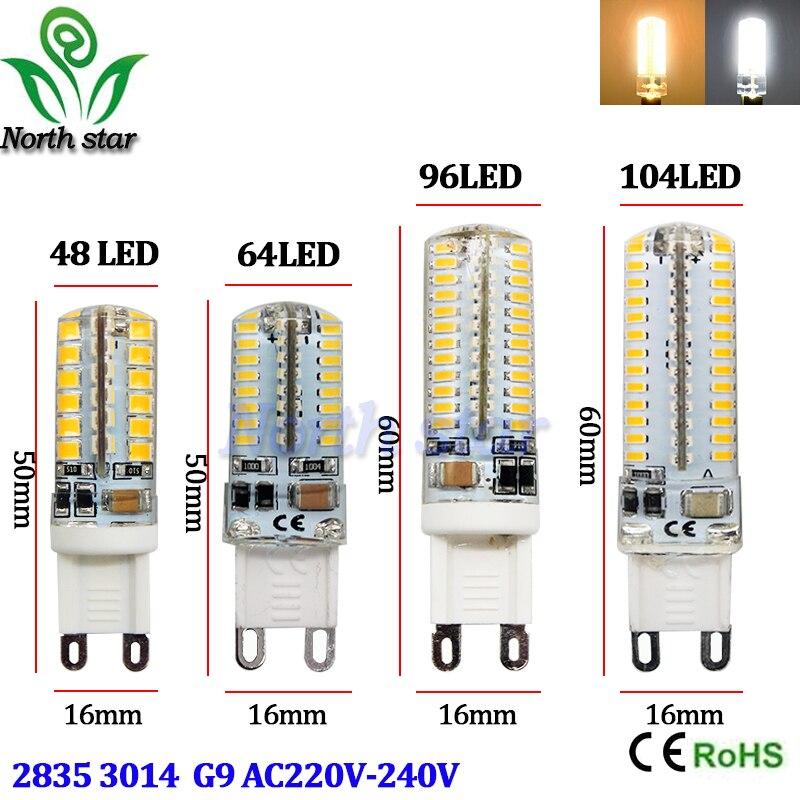 g9 led lamp 7w 9w 10w 12w corn bulb ac 220v smd 2835 3014 48 64 96 104leds lampada g4 led light. Black Bedroom Furniture Sets. Home Design Ideas