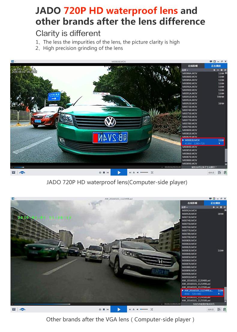 JADO D680S Car Dvr Camera Full HD 1080P Car Dvrs Dual Lens Recorder 6.86' Car Camera Dash cam ADAS Rearview Mirror Registrar 9