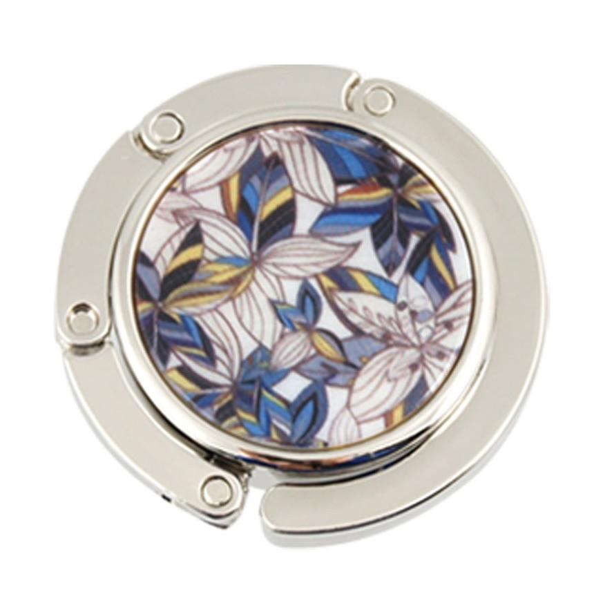 Goedhartig Lelie Bloemen Patroon Metalen Opvouwbare Purse Handtas Haak Tafel Hanger Brede VariëTeiten