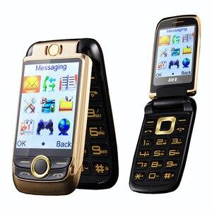 Image 1 - Blt v998 flip tela dupla dupla dois tela de vibração do telefone móvel tela sensível ao toque sim duplo voz mágica telefone celular p077