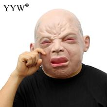 Realistic Latex Human Mask Scary Full Head Mascaras Halloween Man Masks Horror Masker For Cosplay Party Terror Masque