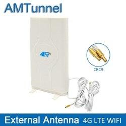4 аппарат не привязан к оператору сотовой связи внешняя панель Антенна 700-2600 МГц антенна CRC9 или TS9 или SMA разъем для Huawei zte мобильный телефон 3G ...