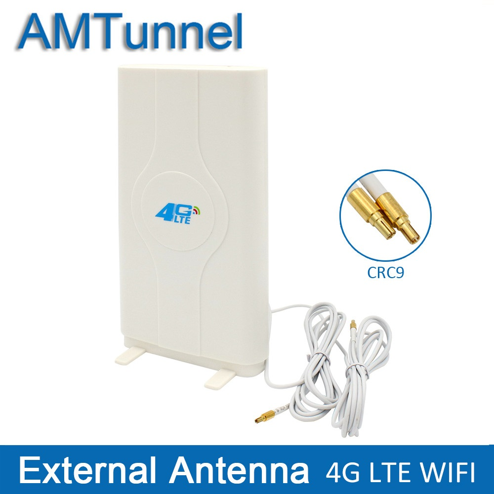 4G LTE External Panel Antenna 700-2600MHz antenna CRC9/TS9/SMA Connector for Huawei ZTE 3g 4g router modem