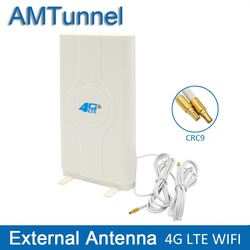 4G LTE External Panel Antenna 700-2600MHz antenna CRC9 or TS9 or SMA Connector for Huawei ZTE 3g 4g router modem