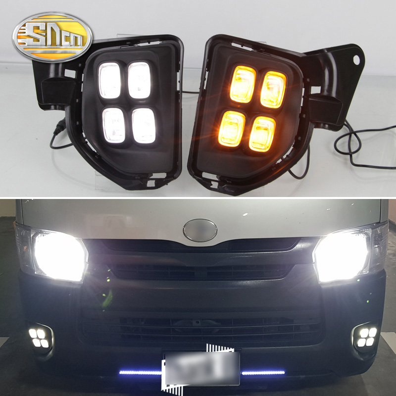 For Toyota Hiace 2016 2017 2018 Yellow Turning Signal Relay Waterproof 12V Car Lamp LED DRL