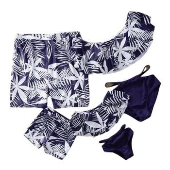 Bikinis 2019 mujer Women Mens Couple Swimsuit Bikini  Board Shorts Men Swimming Trunks Boxer Beach swimwear Surfing Boardshort