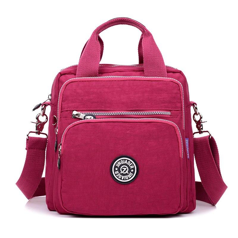 Для женщин сумка женская через плечо сумки Водонепроницаемый нейлон карман на молнии твердое плечо пакет Леди Tote посылка