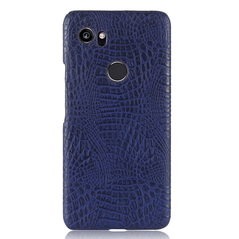 Crocodile Pattern Case For Google Pixel 2XL Hard PC And Leather Back Cover Coque Case For Google Pixel 2XL Case