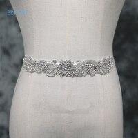 BRITNRY Luxury Wedding Belt Silver Diamond Bridal Belt For Wedding Gown Ivory Rhinestones Belt Wedding Decoration Real Photos