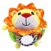 Baby Plush Toys Adorable Animals Music Ball Early Education Learn Toy for Infant M09