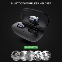 Latest Outdoor Waterproof Mini Wireless Bluetooth Stereo Headset In Ear Earphone Earbuds Headphone Stereo for Phone with Mic