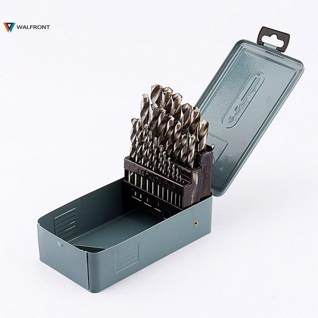 """25 יח'\סט Furadeira מקדח פלדה במהירות גבוהה HSS מקדח עץ סט כלי חשמל 1 קצת קידוח מתכת מתכת כדי 13 מ""""מ"""