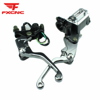 7/8 22MM Dirt Pit Bike Motocross Master Cylinder Brake Clutch Lever Hydraulic Brake Lever For Yamaha SEROW 225 250 1986 2014