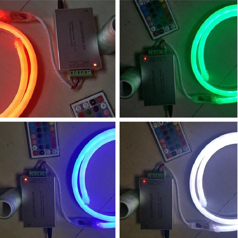 24A RGB contoller 12V 5050 80LED//M LED RGB Flex solf led neon rope strip light