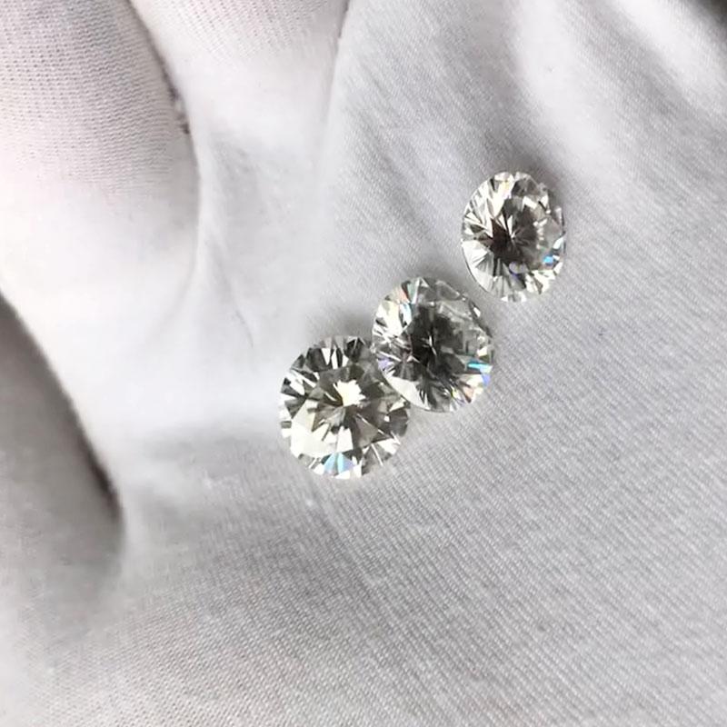 Transgems 1 pieza brillante 7,0mm F incoloro corazones y flechas corte redondo anillo piedra suelta perlas para joyería haciendo - 2