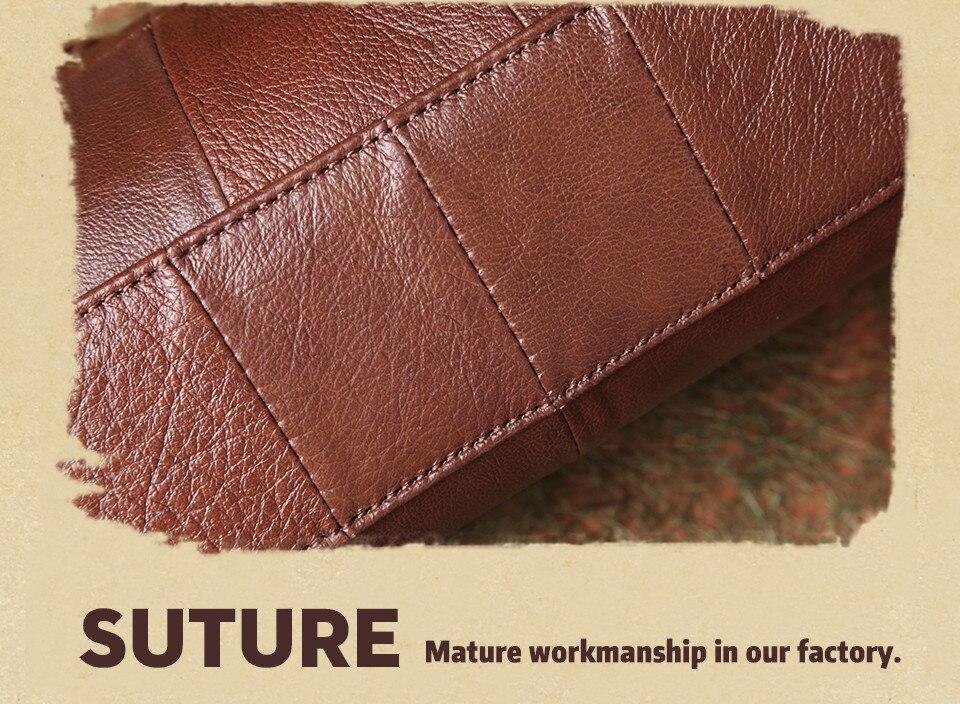 bolsas حقائب الكتف النسائية جلد طبيعي العلامة التجارية 15