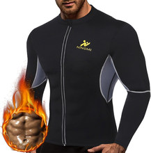 SEXYWG Yoga Top Men HOT Shirts Sport Jacket with Long Sleeve Fitness Tight Weight Loss Neoprene Sauna Waist Trainer Body Shapers(China)