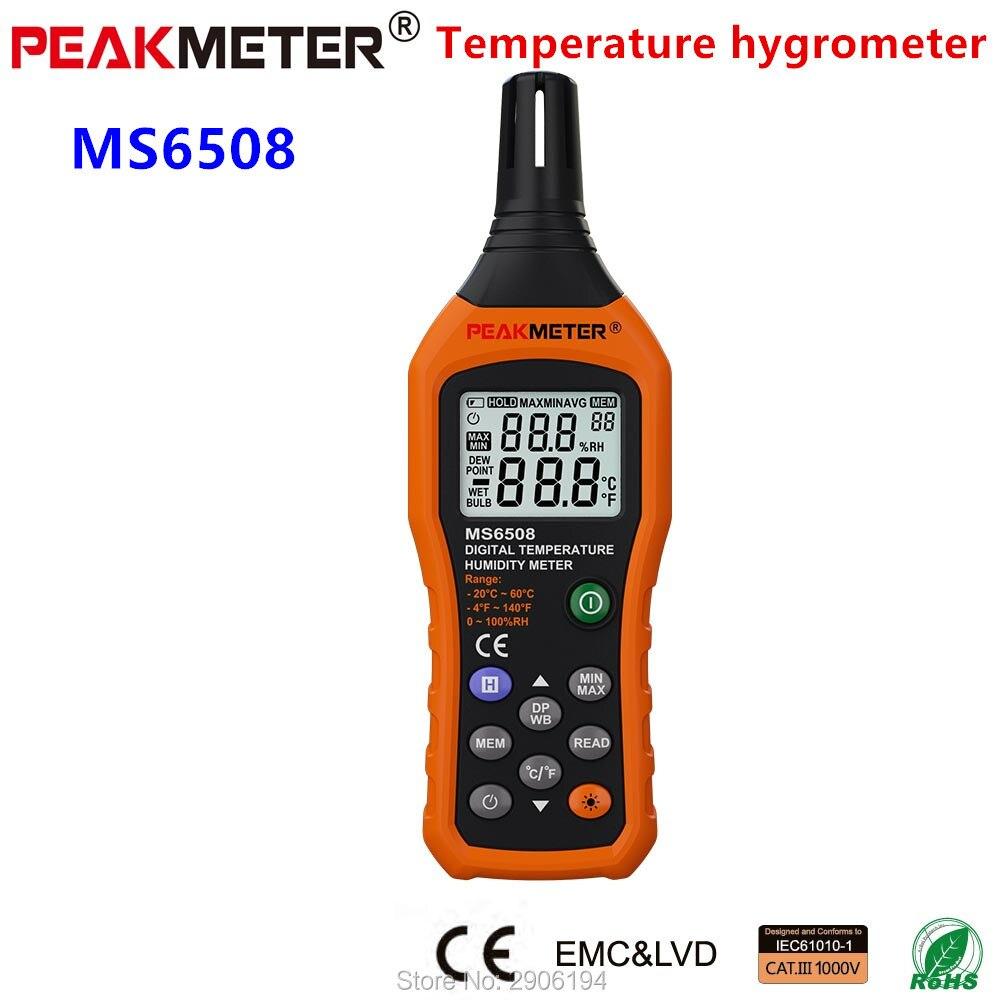 Relative Humidity Meter : Peakmeter free shipping multi function temperature dew