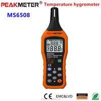 Peakmeter 무료 배송 다기능 온도 이슬점 습식 전구 상대 습도 측정기 ms6508