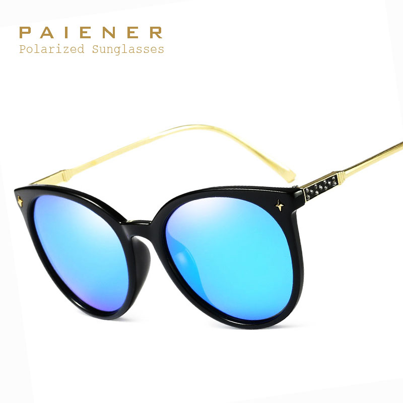 sunglasses women 2017 New sunglass Vintage Retro HD Polarized Sun glasses Brand Design oculos de sol feminino with Accessories