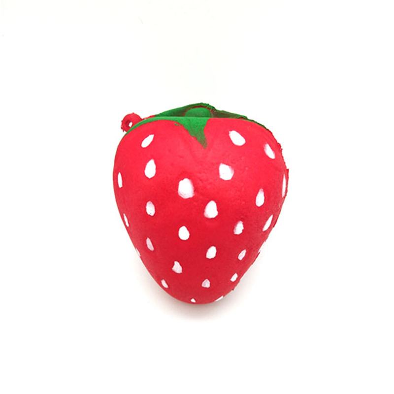 Squishy Strawberry Pear Slow Rising Squish Scented Charms Kawaii Key Pendant Novelty Gag Toys Squeeze Fruit Toy For Kids