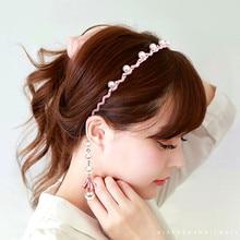 цена на New Arrival Lady's Handmade Fashional Korean Style Faux Pearl Slimsy Hairbands Eardrop Women Hair Accessory