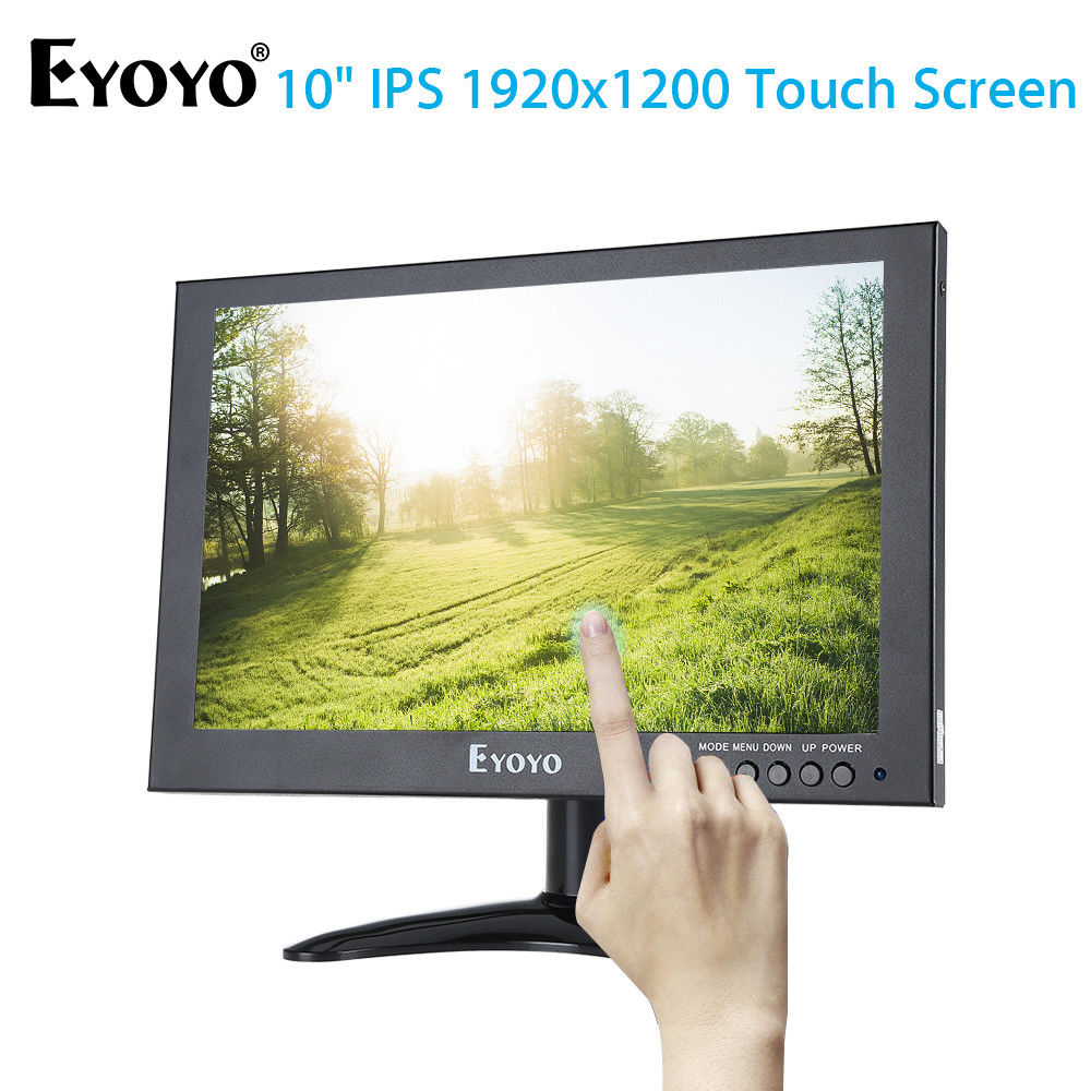 Eyoyo 10 Full 1920x1200 IPS Touch Screen LED Monitor With HD/VGA/AV Video Input For PC L ...
