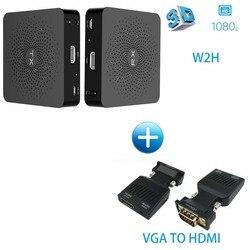 MEASY WIRELESS HDMI W2H WIHD 60 GHz bezprzewodowe HDMI extender nadajnik i odbiornik zestaw do 30 M 100ft (W2H + VGA do HDMI)